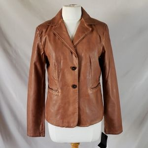New Bagatelle Dyed Faux Leather Jacket
